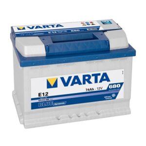 Varta E12 Blue MF Battery 74Ah 680CCA (Din66LH)