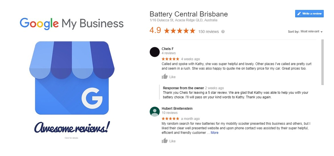 Google Awesome reviews!